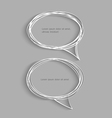 Two hand drawn speech bubbles with shadow vector image