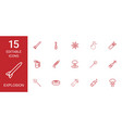 15 explosion icons vector image vector image