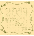 2017 Happy new year hand drawn with vector image vector image