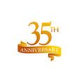 35 year ribbon anniversary vector image vector image