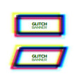 abstract glitch texture square frame set vector image