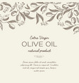 abstract olive floral sketch template vector image