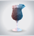 abstract polygonal tirangle cocktail blue hawaii vector image vector image