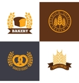 bakery and bread shop logos labels badges vector image vector image