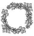baroque ornamental antique silver element on white