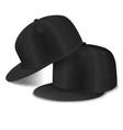 black cap hip hop set vector image vector image
