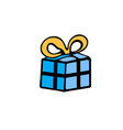box gift doodle icon on white background vector image vector image