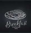 breakfast with fried eggs vector image