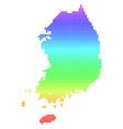 bright dot south korea map vector image vector image