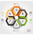 Business management circle origami style vector image vector image