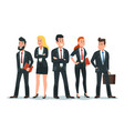 business people team office teamwork vector image