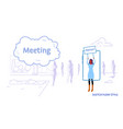 businesswoman holding protest signboard woman vector image vector image