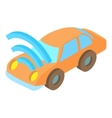 Car with Wi Fi icon cartoon style