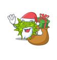 cartoon design vibrio cholerae santa vector image vector image