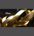 chaotic golden ribbons 3d vector image vector image