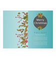 christmas berry holly mistletoe leaves and fruit vector image