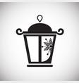 christmas lantern on white background vector image vector image