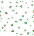 christmas mistletoe on a white background vector image