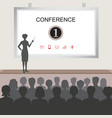 conference room people at the hall vector image