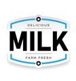drink logo milk vintage vector image vector image