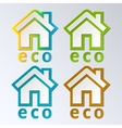 Eco House in rainbow color EPS 10 vector image vector image
