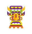 ethnic tribal ritual mask on a vector image vector image