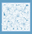 floral pattern decor for silk tiussiue flower vector image vector image