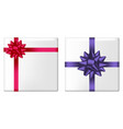 gift set with bow vector image