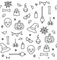 halloween seamless pattern for children coloring vector image vector image