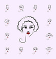 halo hat girl icon hat girl icons universal set vector image