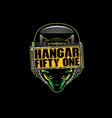 hangar fifty one vector image