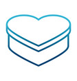 heart shape box vector image