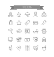 hotel icons set of thin line icons vector image vector image