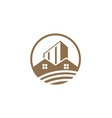 house building design logo vector image vector image