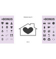 house with heart symbol - graphic elements for vector image