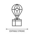 humanitarian assistance linear icon delivery aid vector image vector image