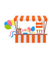 ice-cream and cotton candy store sweets vector image vector image