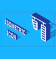 isometric car gas and brake pedals icon isolated vector image vector image
