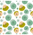 Lily pad seamless pattern vector image vector image