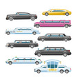 limousine limo luxury car and retro auto vector image