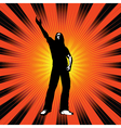 man with arm raised vector image vector image