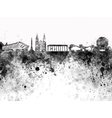 Minsk skyline in black watercolor on white vector image vector image