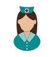 nurse avatar icon image vector image