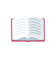 open book with text icon vector image vector image