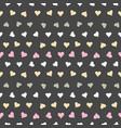 pastel love hearts on dark background pattern vector image vector image