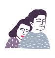 portrait of adorable young married loving couple vector image vector image