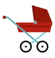 Pram baby carriage icon flat style vector image