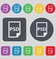 PSD Icon sign A set of 12 colored buttons Flat vector image vector image