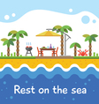 rest on sea vector image vector image