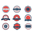 Retro blue and red labels set vector image